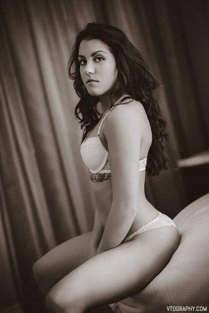 Victoria - sepia toned lingerie photos