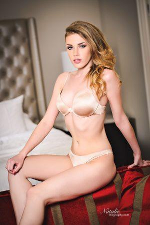 Boudoir photos of model Natalie