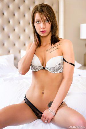 Boudoir photos of Riley in lingerie
