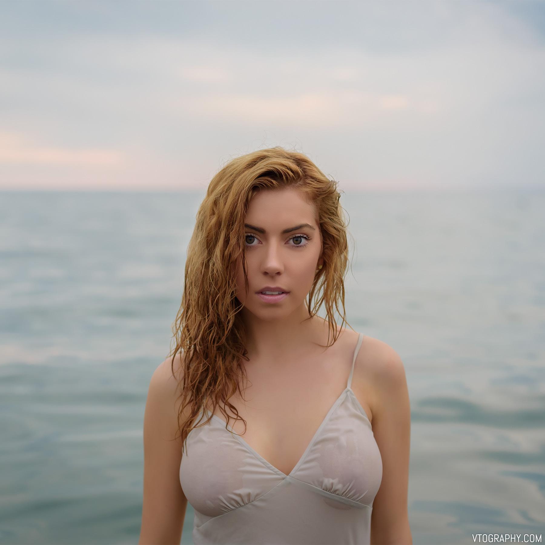 Model Emily in Lake Ontario