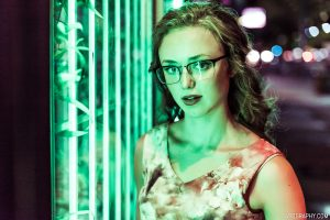 Neon portraits with Kathryn