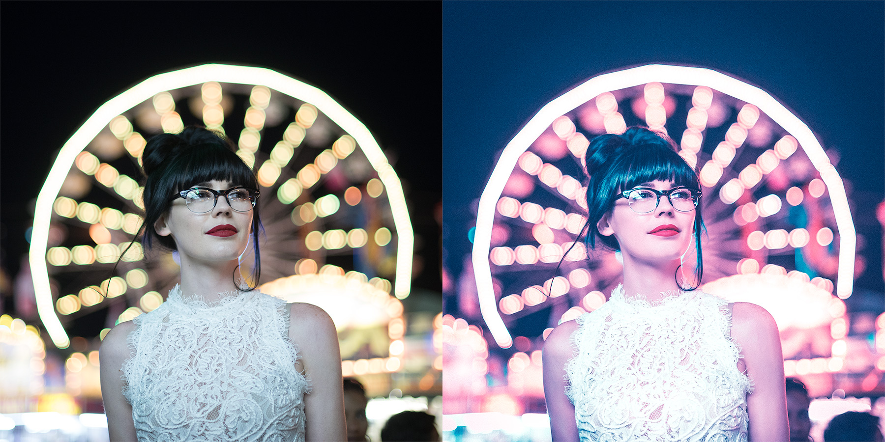 Carnival photo shoot before and after