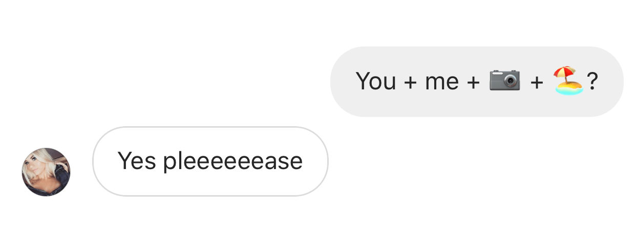 Instagram conversation